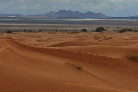 Desert sand dunes + Black desert